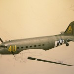 Our aircraft on mission painted by Bert Oldser. info and price will follow